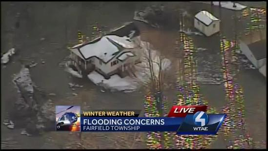 Water rises around homes in Westmoreland County