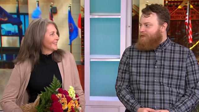 Transplant recipient meets her donor for 1st time, live on TODAY
