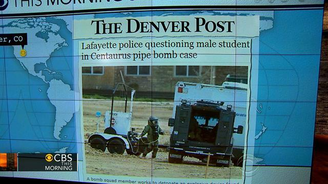 Headlines: Explosive device found at Colo. high school