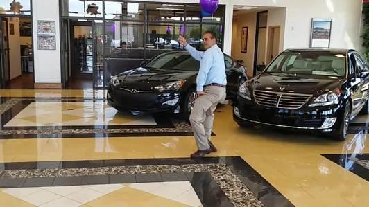 Car Salesman Impresses with His Dance Moves