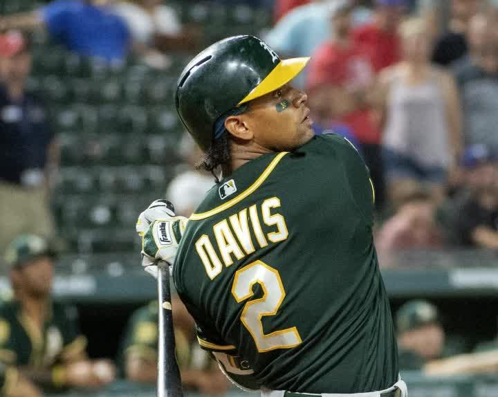 wholesale dealer 1533f 5f0ef Davis crushes HR while wearing jersey autographed by Make-A ...
