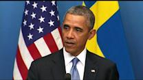 Obama faces questions on Syria while in Sweden
