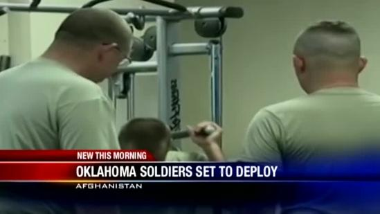 Oklahoma National Guard soldiers prep for deployment to Afghanistan