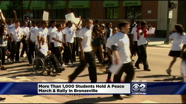 Students Stage Peace March Ahead Of Summer Break
