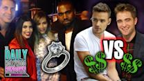 Kimye Engagement Photos! One Direction Richest Celebs?! Pauly D's Lovechild!