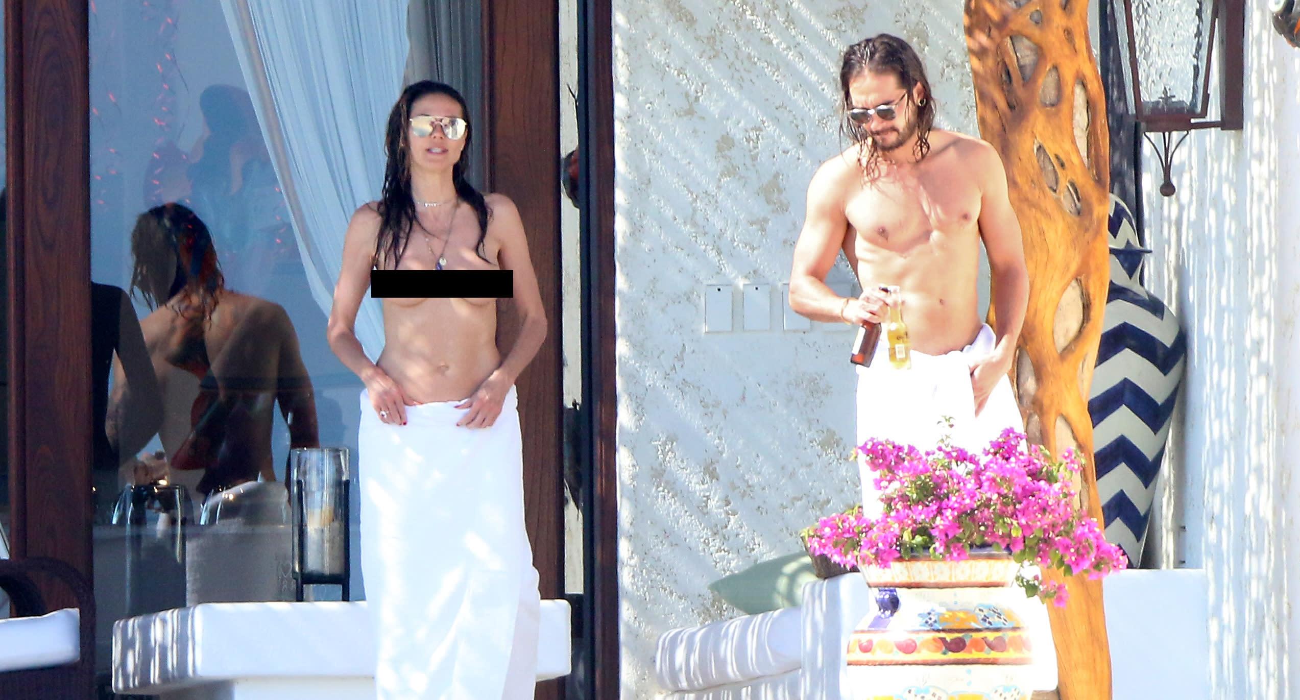 Heidi Klum is enjoying her vacation with new boyfriend Tom Kaulitz. (Photo: Splash News)