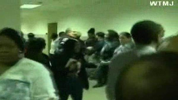 Courtroom brawl causes injuries