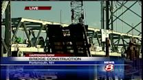 Final span of Memorial Bridge floated into place