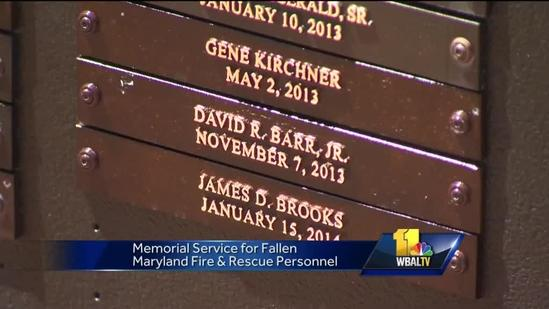 Memorial service held for fallen fire, rescue personnel