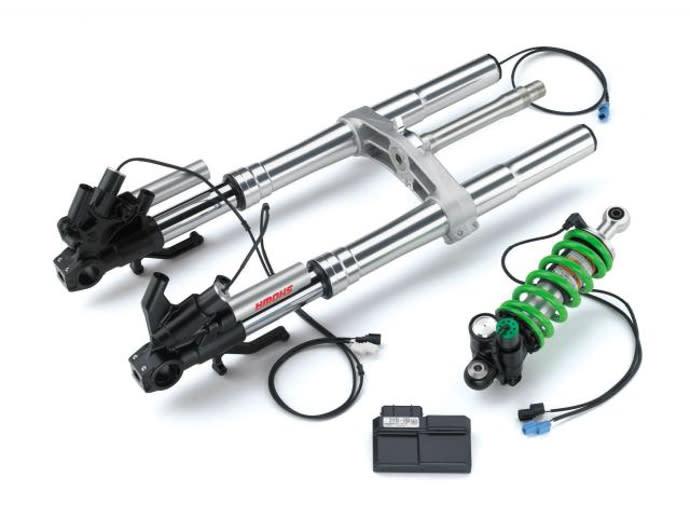 前後懸吊系統皆為SHOWA推出的半主動電子式製品。