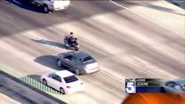 Motorcyclist Leads Authorities on Wild Freeway Pursuit