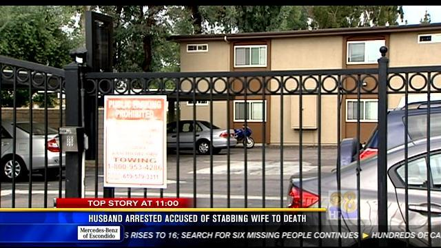 Husband arrested, accused of stabbing wife to death