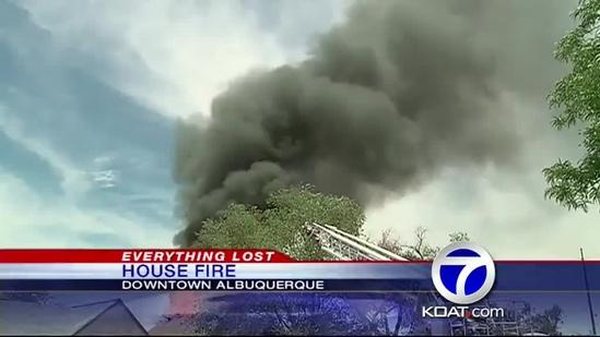 Downtown House Fire