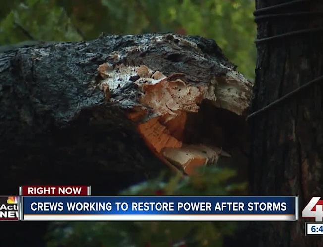 Overnight storms down trees, cause power outages and minor flooding