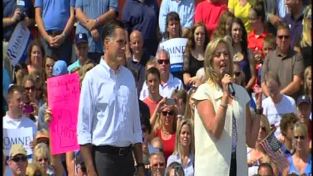Romney Michigan campaign stop