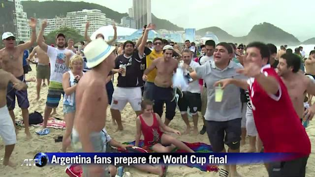Argentina fans prepare for World Cup final