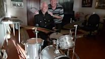 Proud son and his 93-year-old drumming dad