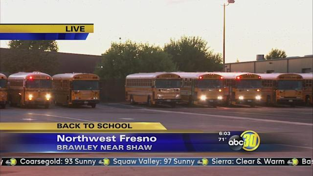 School buses hit the road for Fresno Unified