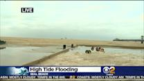 High Surf Causes Flooding In Seal Beach