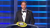 Jimmie Johnson accepts 2013 Champion award