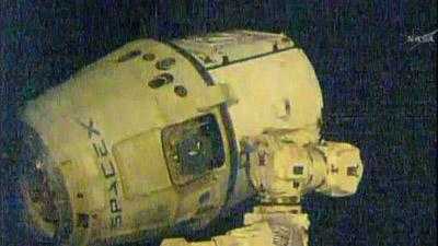 Raw: Dragon Cargo Ship Departs ISS