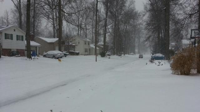 Snow fell overnight covering streets in Lorain County