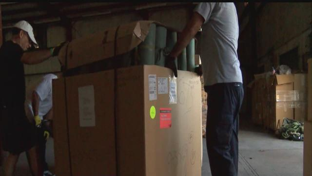 Supplies for vets moved after burglary