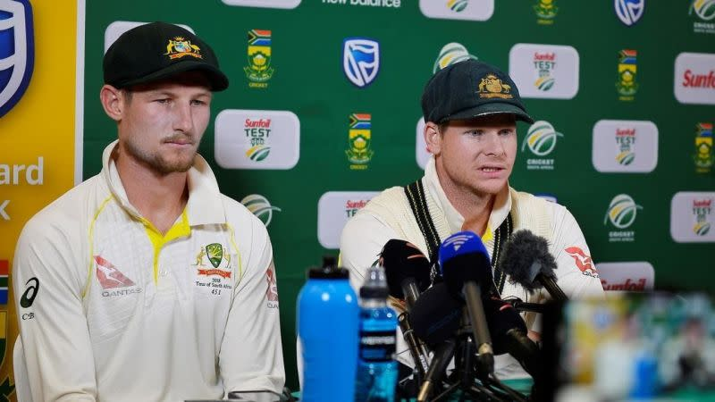Steve Smith and Cameron Bancroft confront against the media as they accept their roles in Ball-tampering fiasco