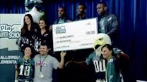 "Eagles visit ""healthy"" Montco school"