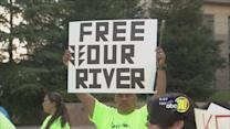 Hoopa tribe protests Westlands water cuts in Fresno