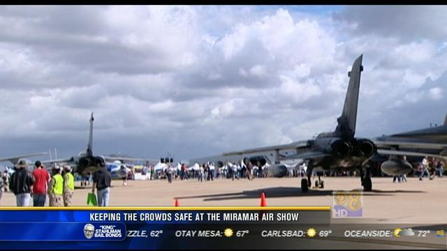 Keeping the crowds safe at the Miramar Air Show