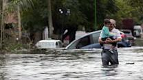 Around the World: Tensions rise as floodwaters recede