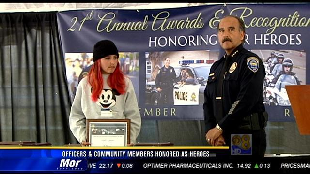 Officers, community members honored as heroes