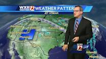 Warm and Muggy, with Scattered Storms in the Piedmont