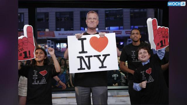 NYC Mayor Sings 'I Love L.A.' On Kimmel's Show