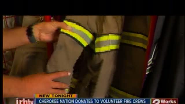 Cherokee Nation helps out fire depts.