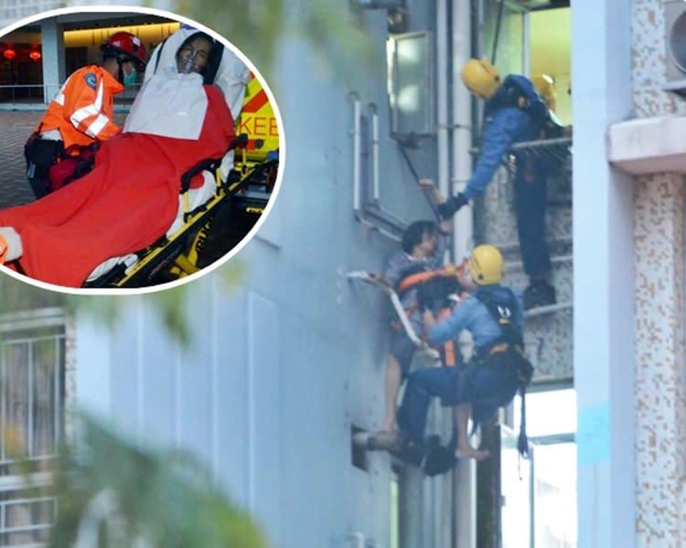 慈雲山病婦爬出窗外手握水管 消防飛將軍救回