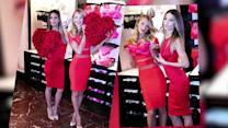 Red Hot Candice Swanepoel and Lily Aldridge Wow at Victoria's Secret Valentine's Event