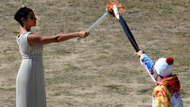 Sochi 2014 Winter Olympic torch begins its journey