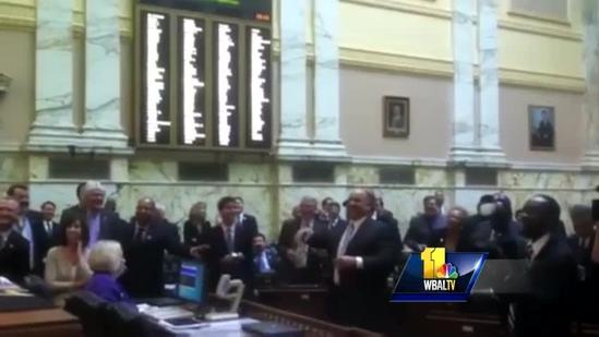 Torrey Smith catches pass from House delegate