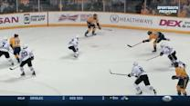 Josi snipes a laser into the top corner