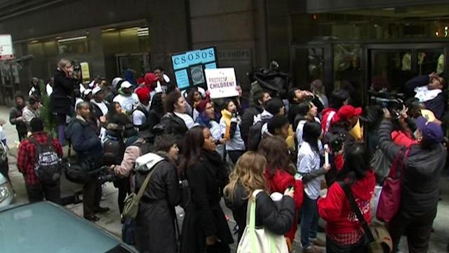 CPS students skip standardized tests to protest