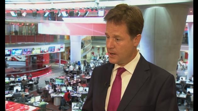 Clegg wants action to deter further use of chemical weapons
