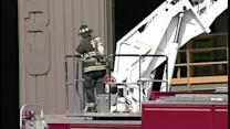 Crews battle fire at ecomaine in Portland