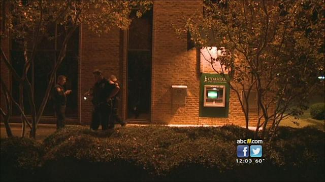 Search on for suspect in ATM shooting