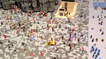 Incredibly detailed city centre built to scale with Legos