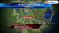 Explosion reported at chemical plant in Geismar