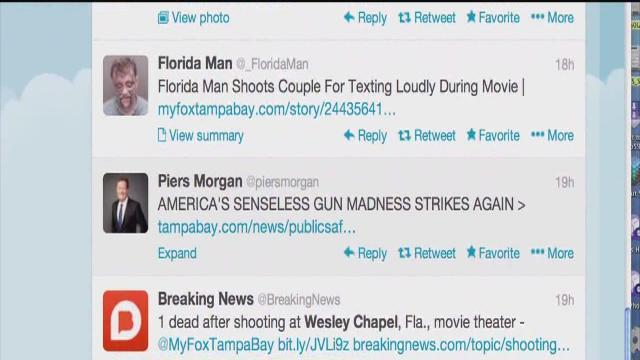Movie Theater Shooting: Social Media Reaction
