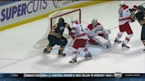 Ehrhoff scores late off Faulk's stick