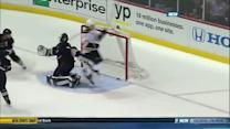 Paille dekes and goes five-hole on Hiller